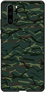 Okteq Case Cover for Huawei P30 Pro Shock Absorbing PC TPU Full Body Drop Protection Cover matte printed - dark green Camouflage By Okteq
