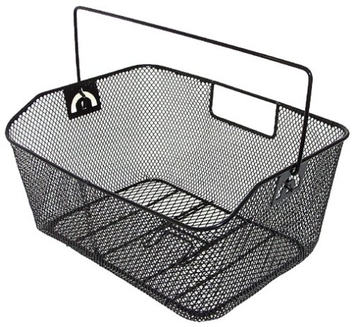 Bicycle Rear Basket - M-Wave Wide Wire Bicycle Basket
