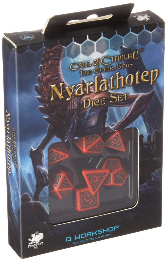 Call of Cthulhu Outer Gods: Nyarlathotep Dice Set by Q WORKSHOP