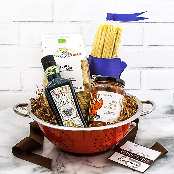 igourmet Pasta Classic Gourmet Gift Basket - A Pasta Lover's Collection - Pasta From Italy