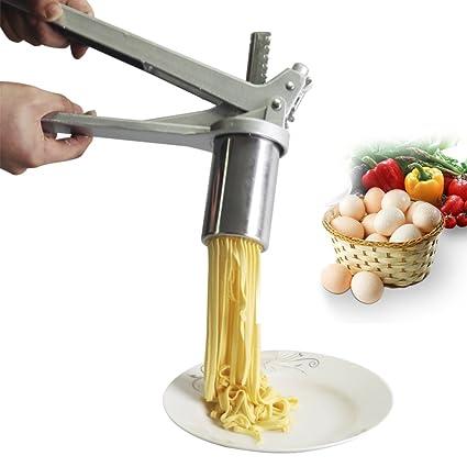 ITAPMNOD Fabricante de Pasta de Acero Inoxidable Desmontable hogar Cocina, Molde 8 tallarines Espaguetis,