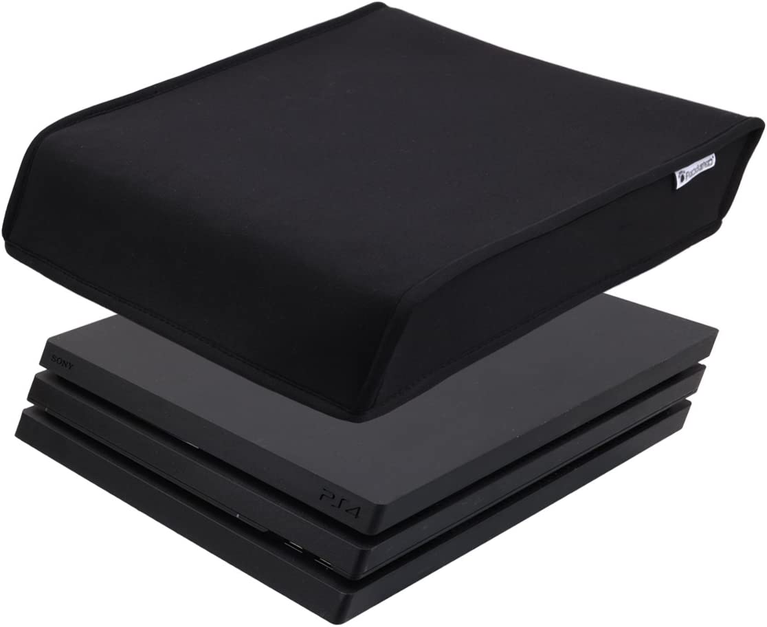 Pandaren® prueba de polvo Funda de neopreno cubierta protectores para Sony PS4 PRO consola Horizontal Lugar (negro)