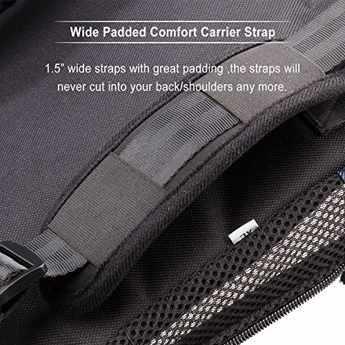 nicrew legs out frontfacing dog carrier updated version wide straps with shoulder pads handsfree adjustable pet backpack carrier for walking hiking