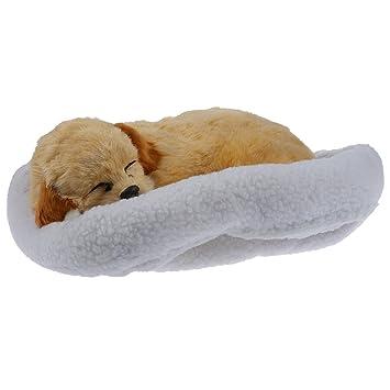 Juguete de mascotas con cama de lana - SODIAL(R)Juguete de mascotas de respiracion y dormido de emulacion con cama de lana que como se muestra (perro): ...