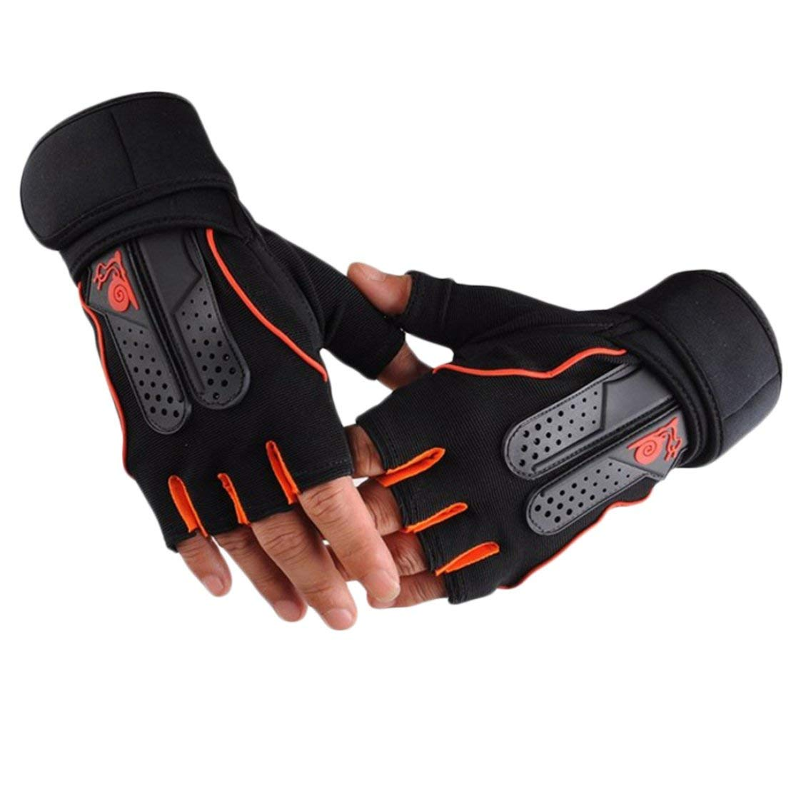 Kaemma Men Women Sports Gym Gloves Half Finger Breathable Weightlifting Fitness Gloves Dumbbell Weight Lifting Gym Gloves Size M//L//XL