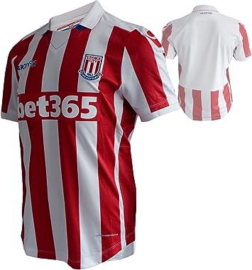 Macron Stoke City FC Home Jersey Jugador scfc Camiseta de fútbol Rojo/Blanco: Amazon.es: Deportes y aire libre