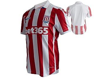 Macron Stoke City FC Home Jersey Jugador scfc Camiseta de fútbol Rojo/Blanco