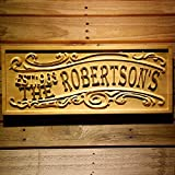 Cheap ADVPRO wpa0320 Personalized Last Name Rustic Home Décor Wood Engraving Custom Wedding Gift Couples Den Gift Wooden Signs – Medium 18.25″ x 7.25″