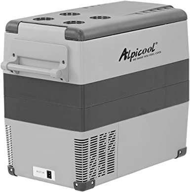 Alpicool CF55 55 Litros Nevera Portátil Eléctrica Refrigerador de Coche 12V 24V mini frigorífico CA 220v para Hogar, Camping, Viajes, Automóvil, 20ºC ...