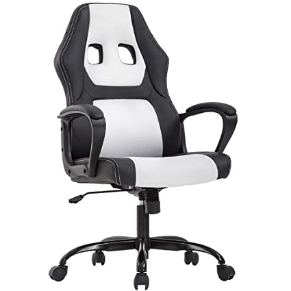 wholesale dealer 2d1e8 93f17 Office Chair PC Gaming Chair Ergonomic Racing Desk Chair Executive Task  Computer Chair Back Support Modern Adjustable Rolling Swivel Chair for ...