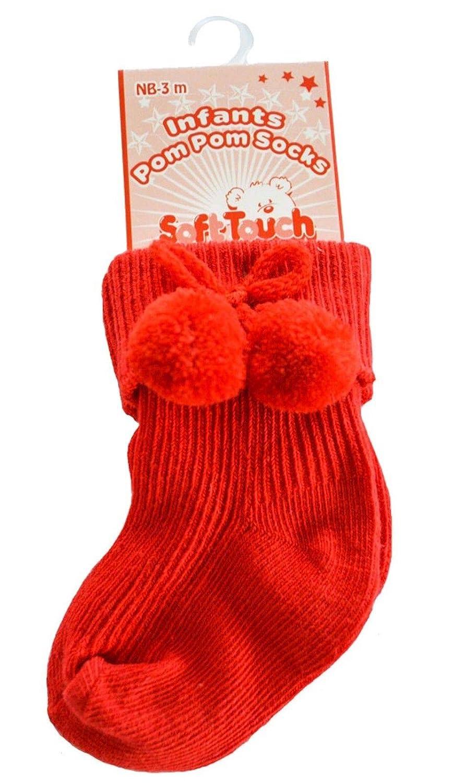 Baby Boys Girls 1 Pair Pom Pom Socks Spanish Style Ankle Length Stretch Socks S10
