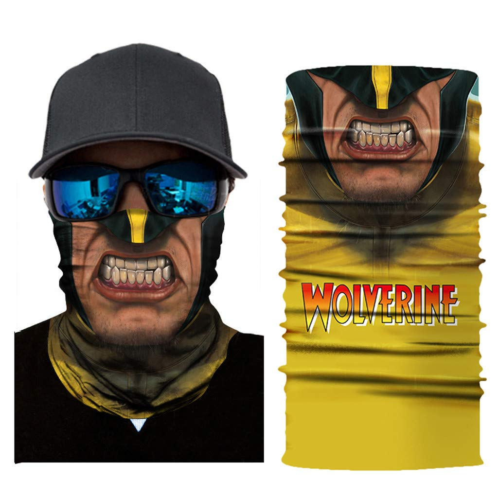 HighlifeS Cycling Motorcycle Head Scarf Full Function Ski Motorcycle Neck Tube Warmer Cycling Biker Scarf Wind Face Mask (B)