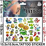 Sheet of Tattoos - Perfect for Party Bags - Frozen, Spiderman and Many More (Plants Vs Zombies)