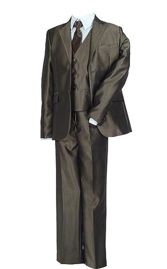 Samtlebe® - Boys - Traje - chaqueta - Básico - para niño marrón 42 ...