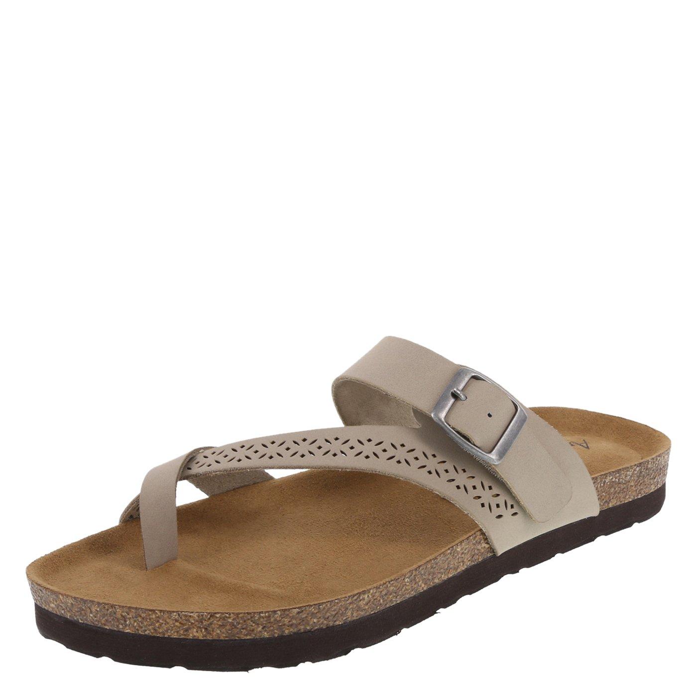 ca12c5df30037 Lower East Side Light Taupe Women's Opal Flat Sandal 11 Regular