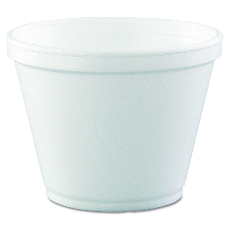 Dart 12SJ20 Food Containers, Foam,12oz, White, 25 per Bag (Case of 20 Bags)