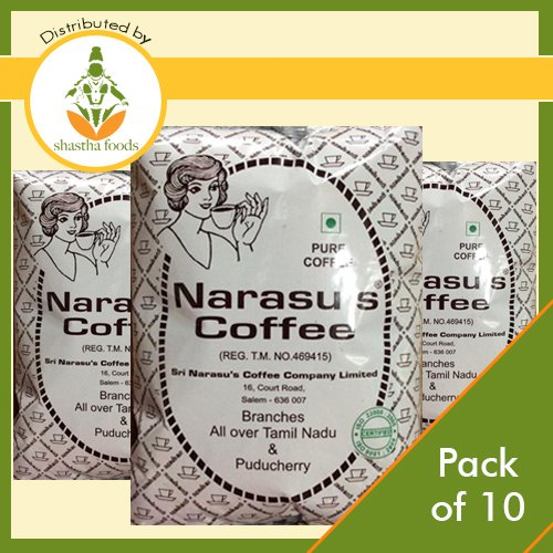 Narasu's Coffee Powder (Peabery) - Pack of 10 (Each 500 Gms) by Shastha Foods