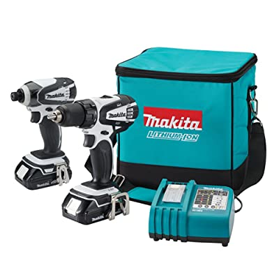 Makita LCT200W 18-Volt Compact Lithium-Ion Cordless Combo Kit