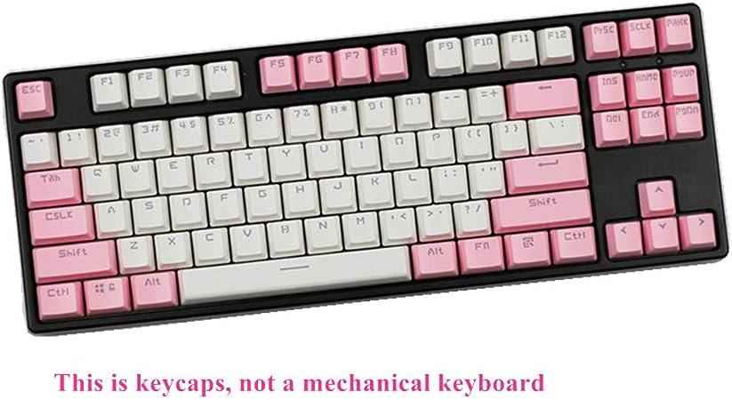 Sunzit Keycaps, 87 Keys ABS Keycap Teclado Mecánico Double ...