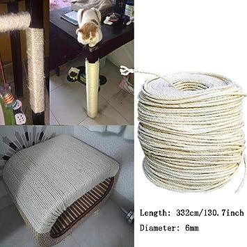 Amazon.com: KOKOBUY - Cuerda de sisal para gatos para ...