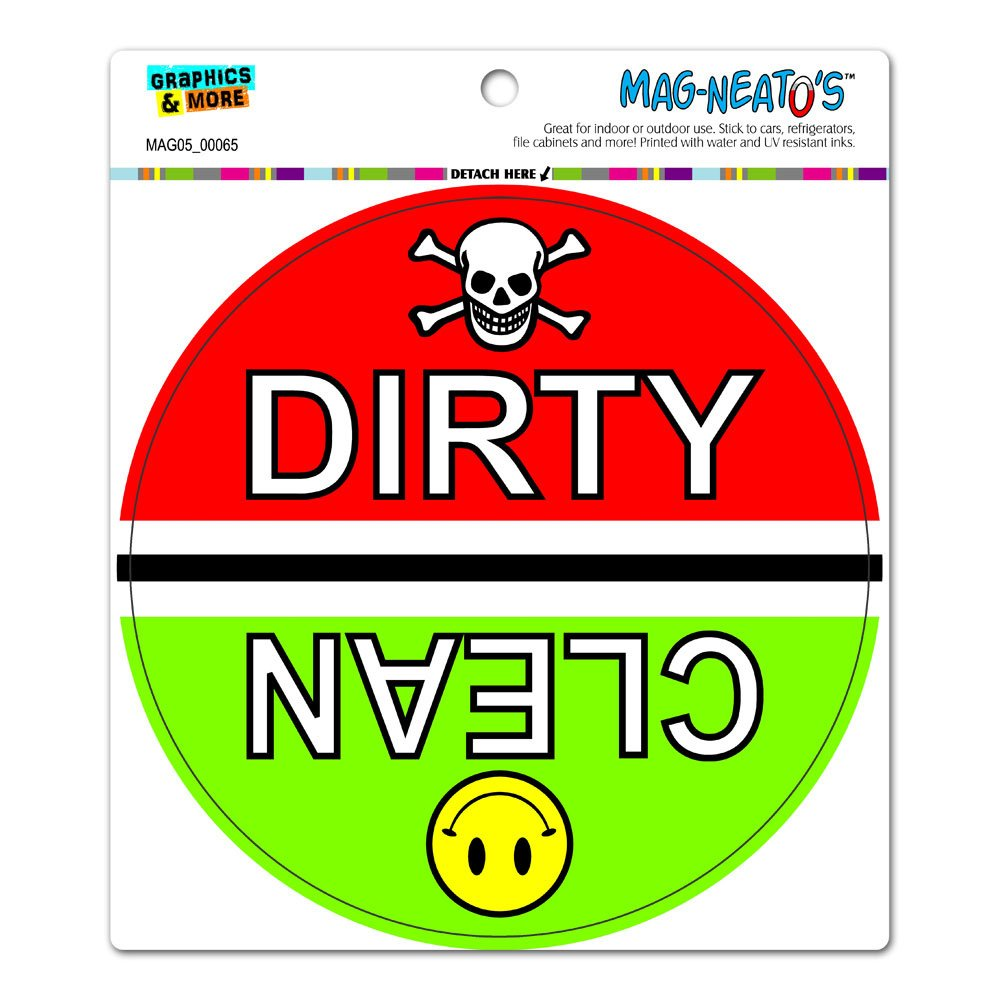 Amazon com clean dirty dishes dishwasher kitchen circle mag neatos automotive car refrigerator locker vinyl magnet automotive