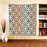 Gzhihine Custom tapestry Abstract Tapestry Vector Seamless Islamic Pattern with Ethnic Motifs Decorations for Home Print for Bedroom Living Room Dorm 60 W X 40 L Brown and Beige