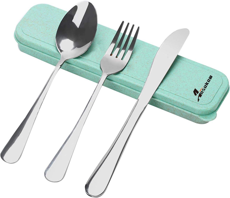 3 in 1 Stainless Steel Fork Spoon Utensil Combo Picnic Home Living Durable New