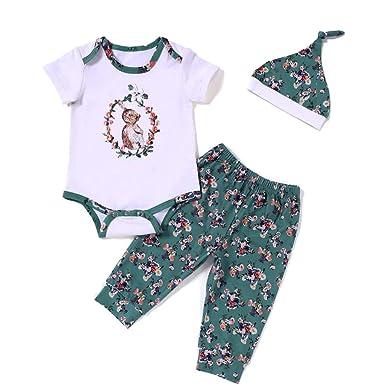 27883a6b3 YOUNGER TREE Newborn Baby Girls Cotton 3pcs My 1st Easter Romper Bodysuit  Dress Tutu & Headband