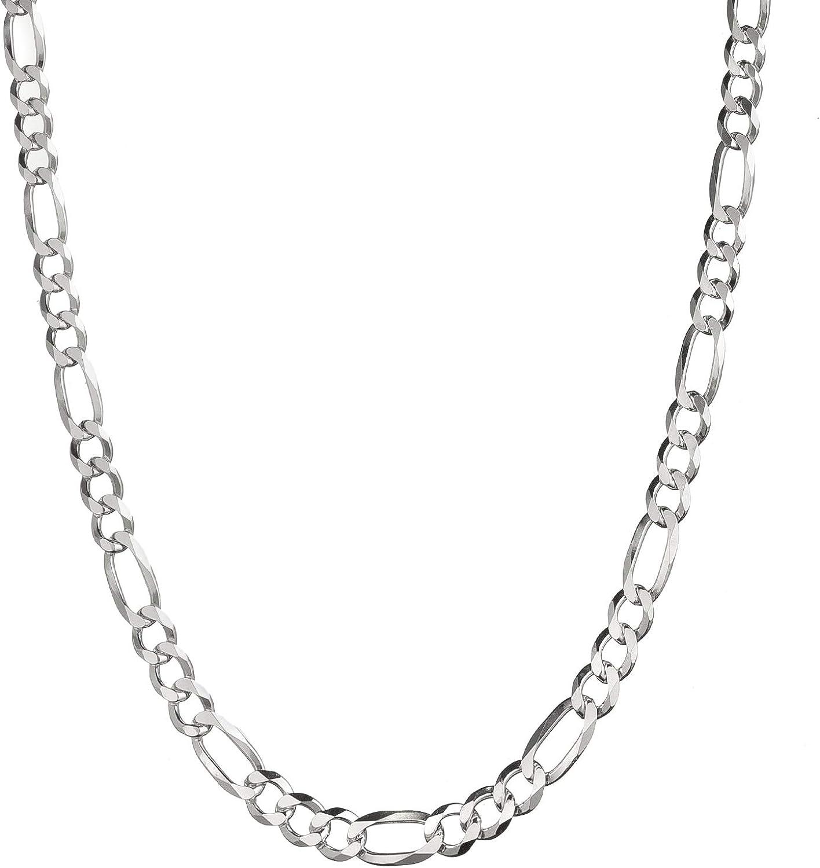 24 inch Sterling Silver Heavy Figaro Chain.