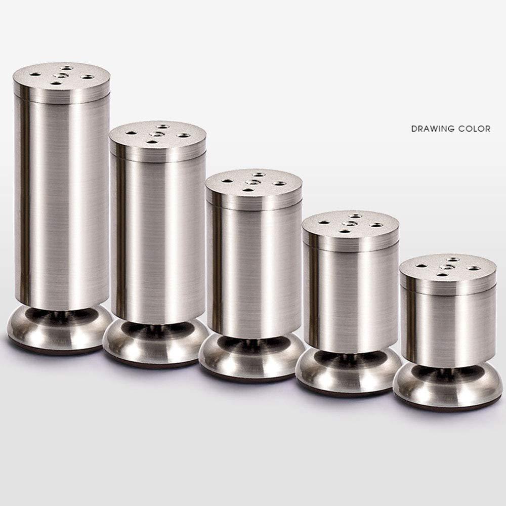 2 Piezas, Patas de Muebles Soporte de Muebles de de Metal Cepillado Ajustable, sofá/gabinete / Patas de Mesa ab574c