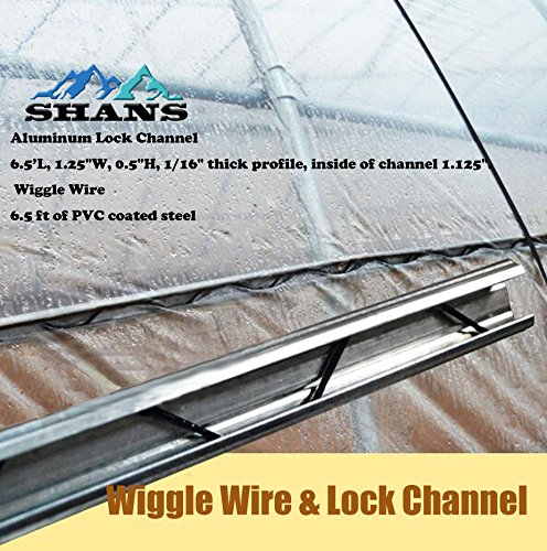 Spring Wire & Lock Channel - Greenhouse Spring Lock & U-Channel Bundle (10) by SHANS (Image #3)