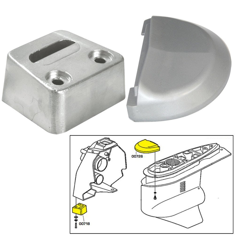 Tecnoseal Anode Kit w/Hardware - Volvo SX - Magnesium by Tecnoseal