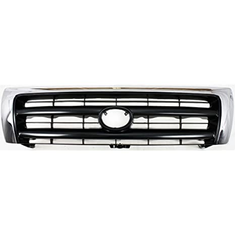 6c14e8c41b96c Grille for Toyota Tacoma 98-00 Chrome Shell/Painted-Dark Argent Insert  2WD/4WD W/Pre-Runner