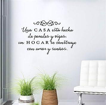 Motto spagnolo Vinile Fai da te Adesivi murali Decorazione ...