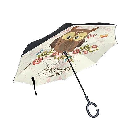 Amazon.com: Reverse invertida Auto Open Umbrella boca abajo ...
