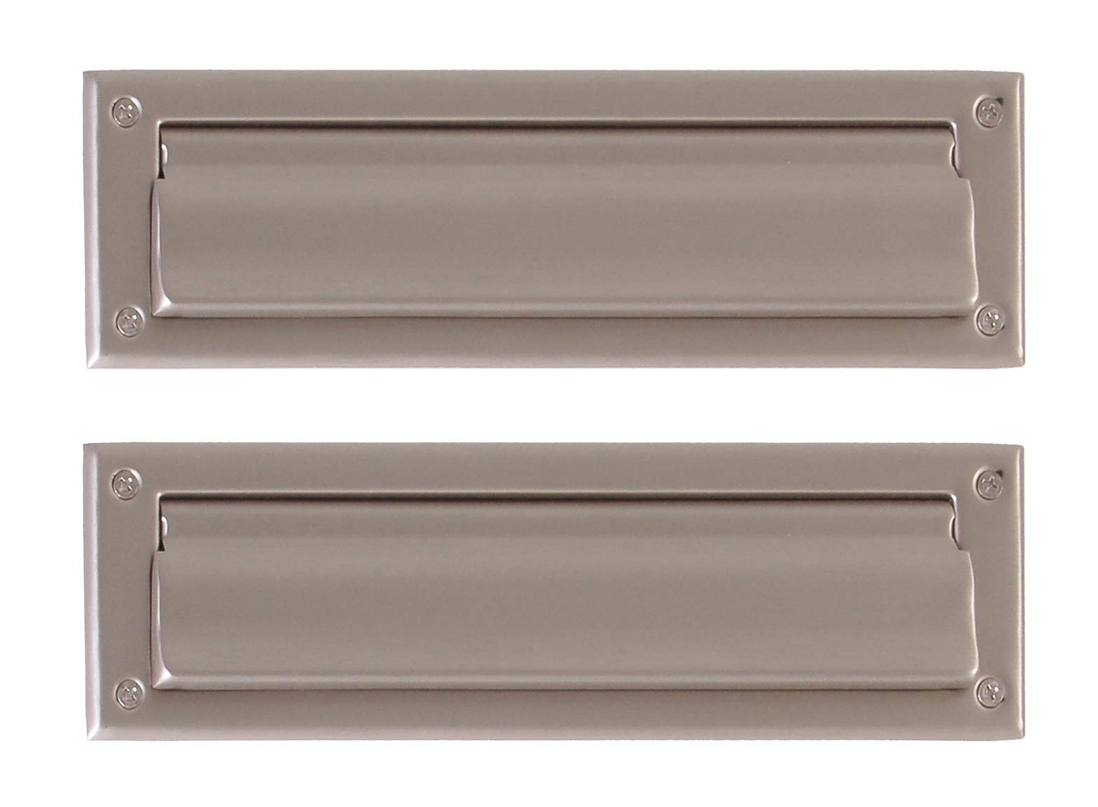 BRASS Accents A07-M0010-619 Mail Slot 3 5/8'' x 13'', Satin Nickel