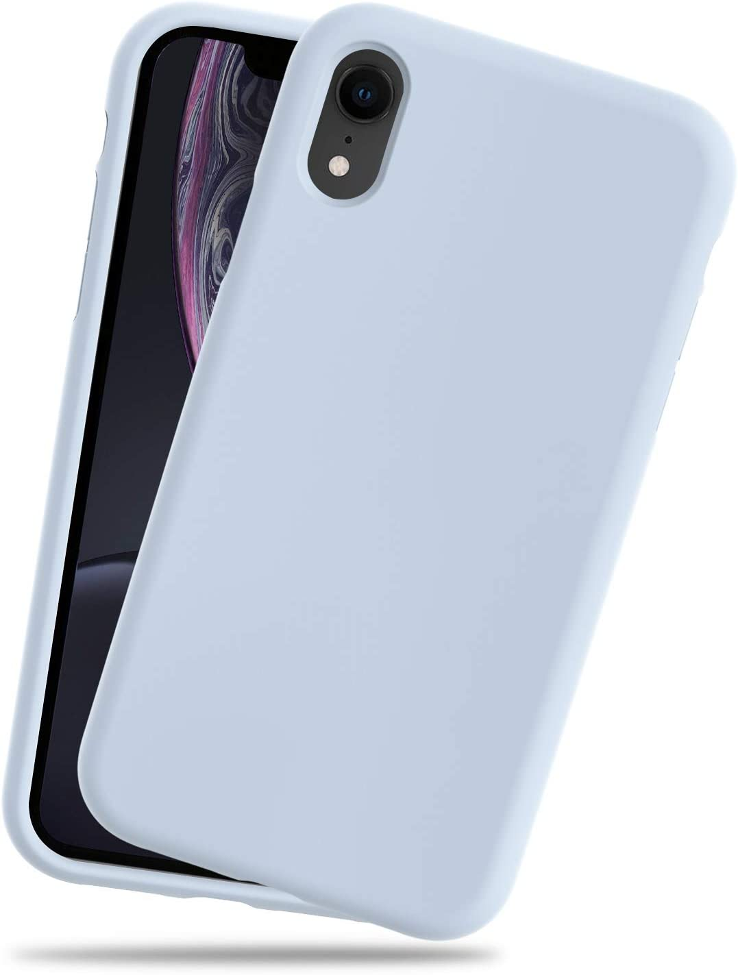 IMPACTSTRONG iPhone XR Case, Silicone Heavy Duty Liquid Gel Shockproof Case with Soft Microfiber Cloth Cushion Compatible with iPhone XR (6.1 inch) - Light Blue