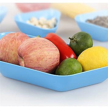 5pcs Pla cuadro de maíz platos, hzdirect Candy plato bandeja de frutas platos sin BPA