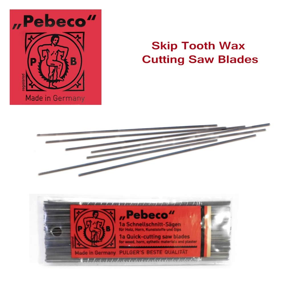 Pebeco Skip Tooth Wax Cutting Saw Blades - 12 pack - Size #1a Thackery Handmade TH-SPIRALS_SAWBLADE