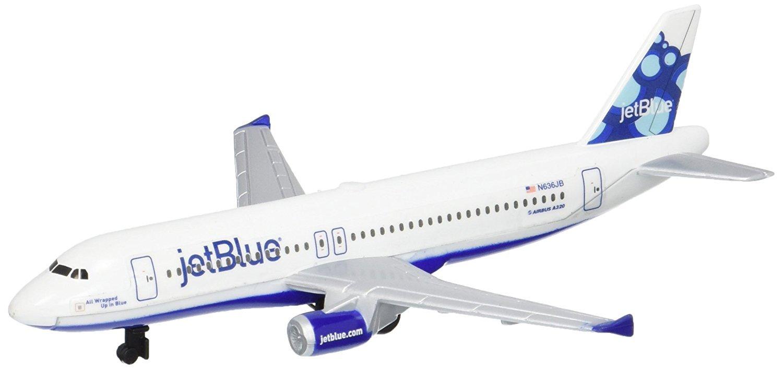 Exclusive Gift Set Bundle 3 Pack Fun /& Toys Inc JetBlue /& Spirit Airlines Die-cast Planes with Bonus Storage Bag Daron Southwest