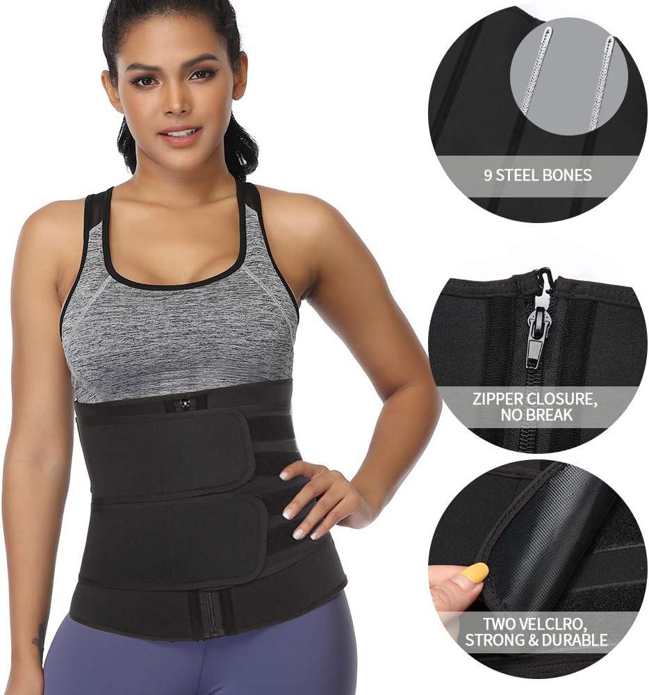 SHAPERIN Neopren Taille Trainer Hei/ßer Schwei/ß Damen /& Herren Taillen Trimmer Sauna G/ürtel Bauchwegg/ürtel f/ür Fitnesstraining Workout Weight Loss