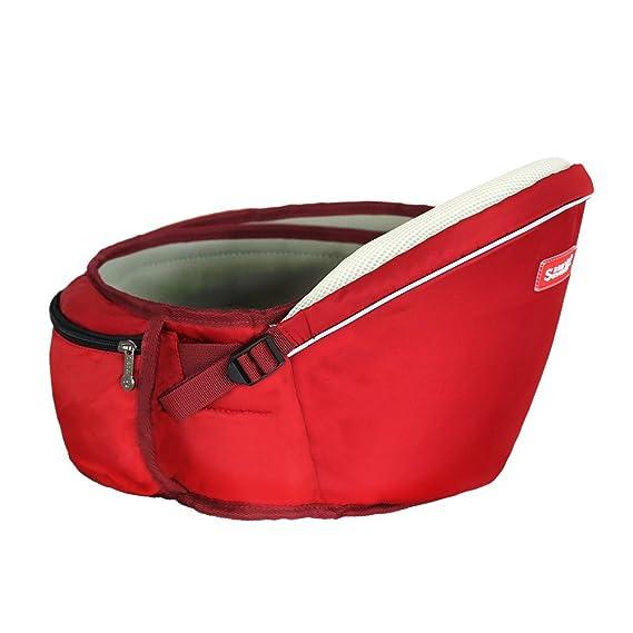 SUNVENO asiento de cadera Asiento portabebés heces cintura bebé niños Hipseat (rojo): Amazon.es: Bebé