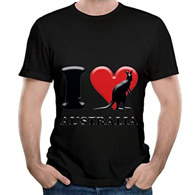 Amazon.com  Arsmt I Love Kangaroo Australia Men Soft Hip Hop Cartoon ... 2d55a9cedfb