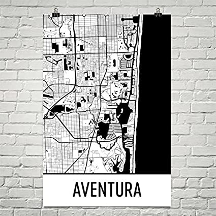 Aventura Florida Map.Amazon Com Aventura Map Aventura Art Aventura Print Aventura Fl