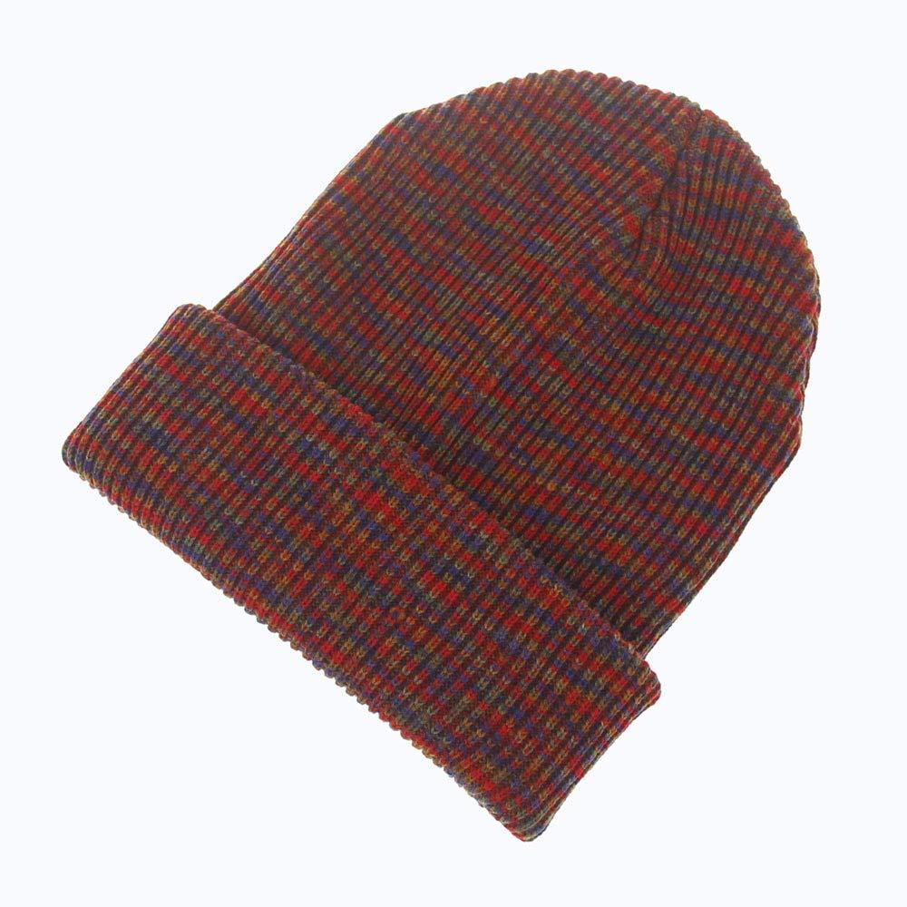 Chapeau chaud Bonnet tricoté en laine pour adultes, automne et hiver, chapellerie bigarrée pour hommes et femmes (Couleur: Teal) pour cadeau (Couleur : Red)