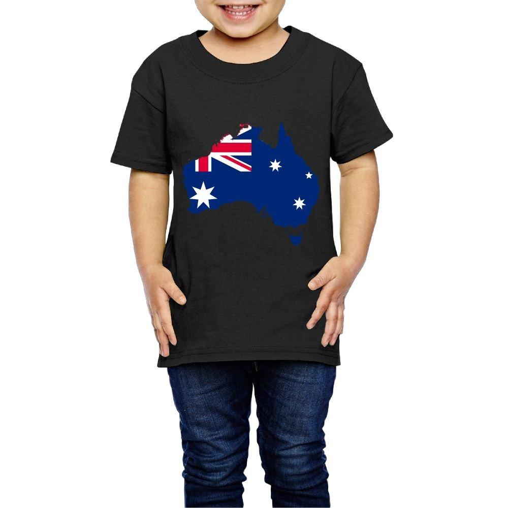 Kcloer24 Australia-Flag-Map Girls Boys Organic T-Shirt Summer Tee 2-6 Years Old