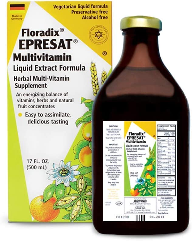 Salus-Haus Floradix Epresat Adult Multivitamin 17 oz – Liquid Multi Vitamin, Fast Absorption, Vegetarian