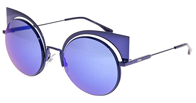 28bc3a97eff0b Amazon.com  FENDI EYESHINE FF0177S Lilac Blue Mirrored Metal ...