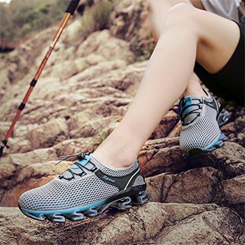 Männer Wandern Trail Running Outdoor-Sportschuhe von Noblespirit Grau