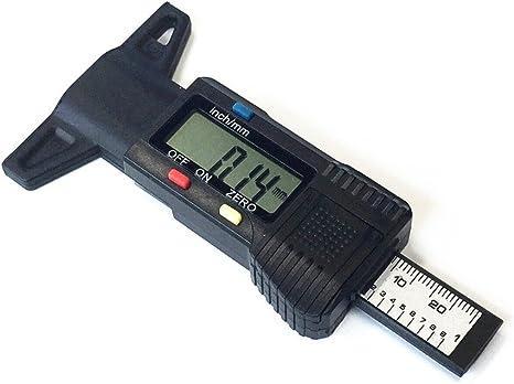 Qiorange Reifenprofilmesser Profiltiefenmesser Digital Profilmesser Reifen Profil Tiefenmesser 0 25 4mm Lcd Display Schwarz Auto